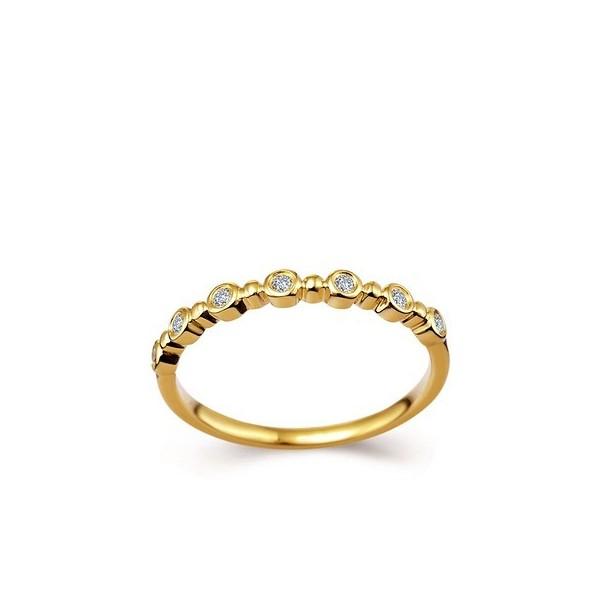 bezel and bead half diamond wedding band toronto custom jewellery