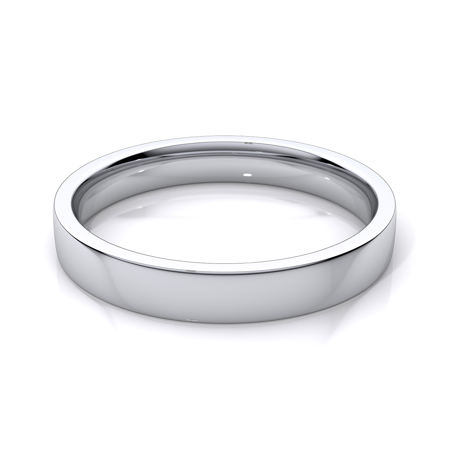 wedding band white gold plain white gold wedding bands Flat Wedding Ring White Gold Rings