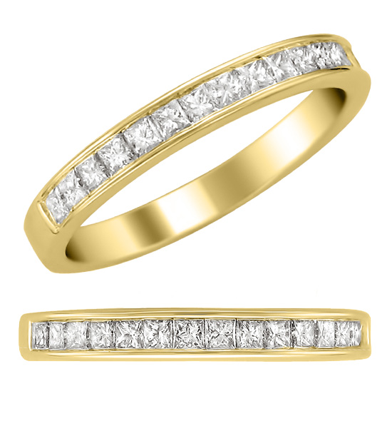 Channel Set Wedding Band Toronto Custom Jewellery