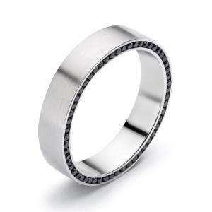 Black Diamond Mens Wedding Band Custom Jewellery Toronto