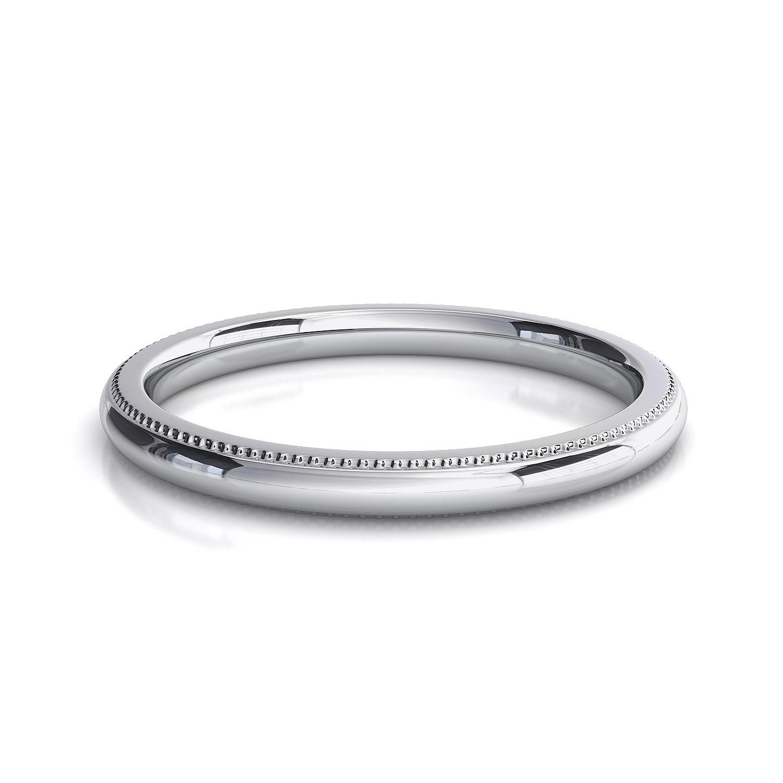 millgrain edge wedding band custom jewellery